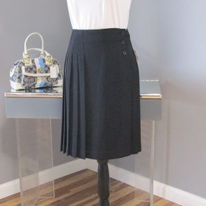 NEW Mixit Black Pleated Wrap Skirt Size 8